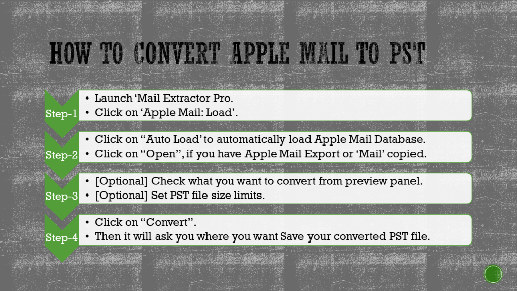 convert apple mail to pst